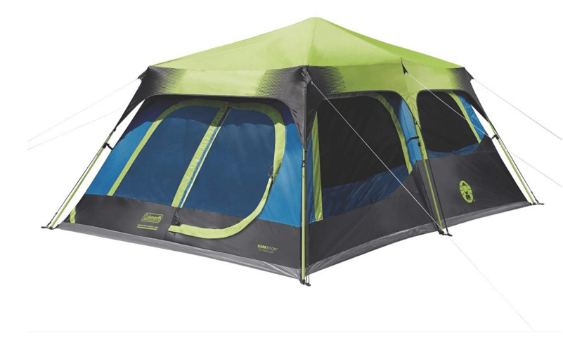 Camping tent with room divider