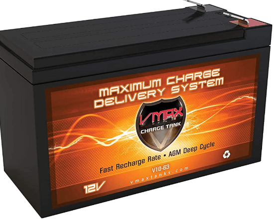 VMAX long duration battery for kayak fishing finder