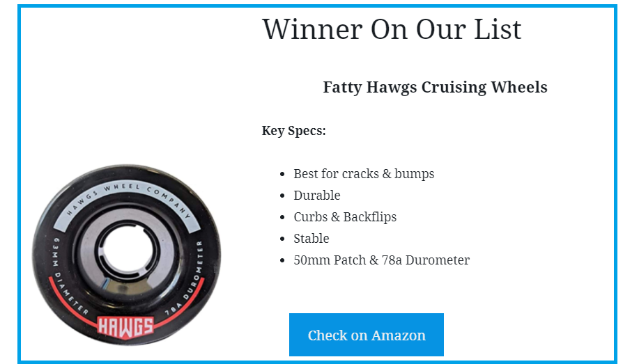 award winning cruising wheels for skateboarding