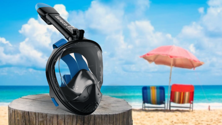 full face prescription mask for snorkelling with eye problems